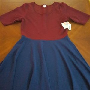 NWT LuLaRoe color block Nicole dress